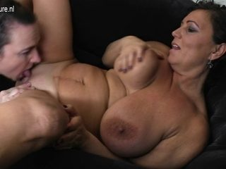 Non-Professional old and youthful lesbian babes eat every other s twats