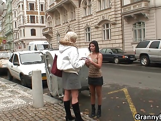 60 years old prostitute rides his young cock