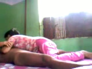 Lovely Indian wifey waiting for her husband in bed to suck his dick