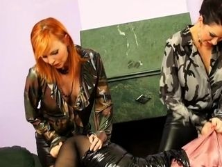 Sizzling gal gets smashed rock hard with faux lollipop and vag slimed