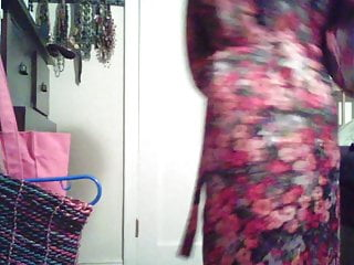 Covert web cam - wifey getting clad