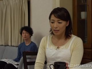 Hisae Yabe mature Japanese nurse sucks cock