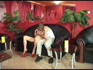 Hungarian hairy redhead mature Piroska fucked by a machine