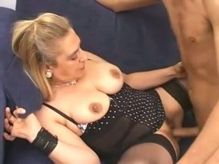 Whenever I have sex with this granny she never fails to give me a good fuck