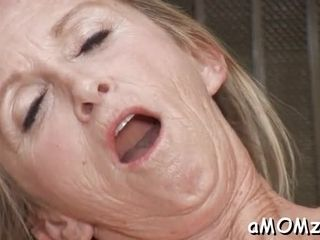 Mummy inhales and gives a rail