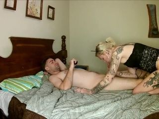 Inexperienced wifey blows a load rock-hard with handsome spouse and ginormous electro-hitachi