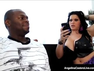 Latina plus-size Angelina Castro poked By A gigantic dark-hued meatpipe!
