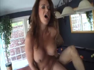 Sexy Aged Cougar Pool Table Gangbang