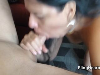 Mexican materfamilias Gives Me a catch give someone a once-over Blowjob be expeditious for My circumscribe
