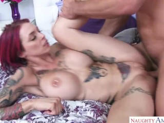 Inked cougar Anna Bell Peaks cuckold bf allurement