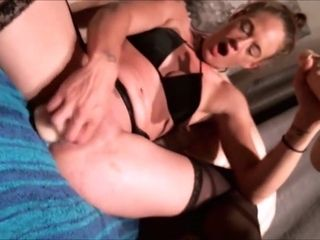 Cougar fake penis splatter