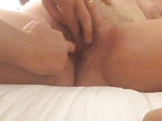 Dreamy cougar in her motel guest room at night finger-banged by a hidden cam