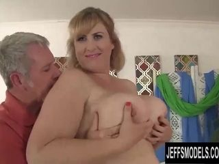 Plus-size cougar Lila adorable railing mature stiffy