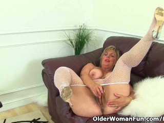 British milf Danielle will let you feast your eyes on her luscious body