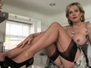 Cheating english mature lady sonia shows her huge knockers