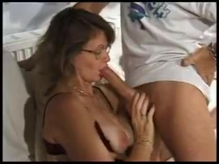 Hot british mature drilled in all holes by two cocks