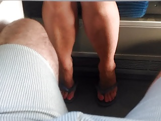 Me having a huge boner for a mature woman in the train