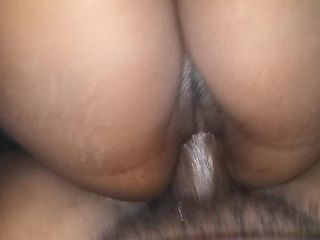 Dark-hued wifey busts on my big black cock so I ball sack on her labia point of view