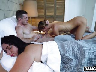 Hotwifey spouse Gets His fuck-stick blown, While His wifey Rests Nearby