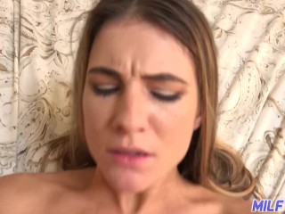 Cougar journey - super hot cougar gets snatch opened up and finishes with facial cumssuper hot - Part 1