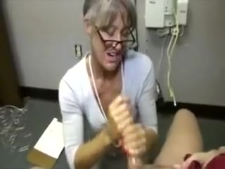 Super-naughty grannie fapping shaft For This highly successful boy