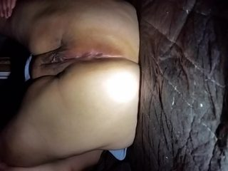 Creampied my wifes wet tight pussy