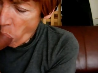 Granny Blowing younger Shaft