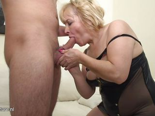 Hot Granny Loves Young Fat Cocks