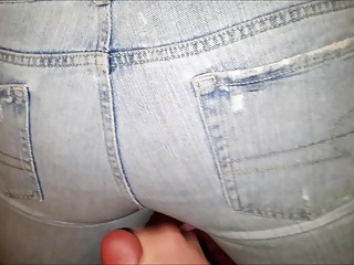Cum on American Eagle Jeans