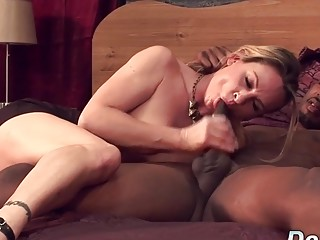 Milky wifey Amanda inhale is nailed by a dark-hued stud as Her hubby sees
