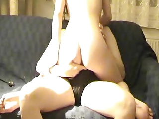 Skinny Blonde wife riding cock