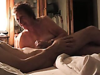 Mature neighbour gives me great blowjob before riding hard dick on top