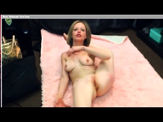 Kinky blond cougar gives solo flash with fucktoys