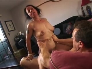saggy milf enjoying cock
