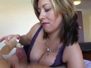 Mature wife made him cum without jerking his dick