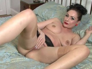 Cougar nymph is unwrapping on the couch