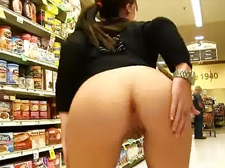 flashing at the store