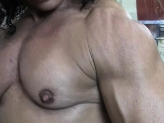 Annie Rivieccio Nude Female Bodybuilder in the Gym