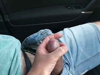 Wifey strokes me while driving
