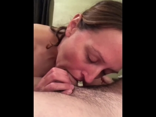 Wife deepthroats pink cigar and rails itnto ejaculation