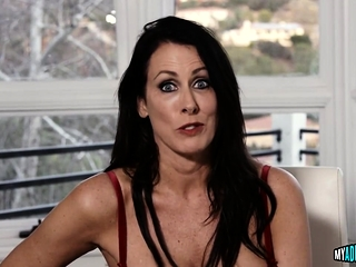 Begrudging cougar mouth-fucked
