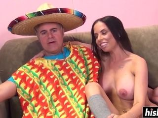 Brazilian father And huge-chested wifey