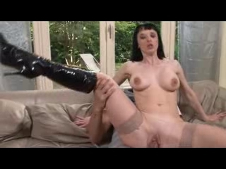Sexy skinny babe riding a big cock as she moans loudly
