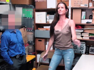 Super-fucking-hot black-haired cougar thief drilled her way out of grief