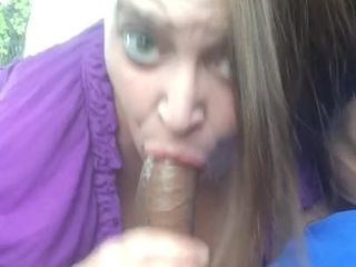 Plus-size deep throating big black cock on lunch break four
