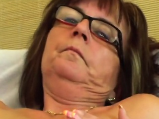 Granny with pierced nipples gets screwed