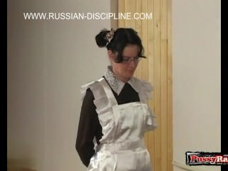 Russian girl spanking with cumshot