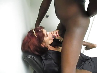 SOPHIA BLOWING BBC IN THE OFFICE
