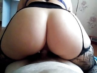 Home phat ass white girl Angie Heart marvelous large booty