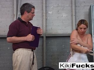 Kiki Daire in Stacked Cheerleader Gives Her Coach A off the hook hand-job - XXXKiki